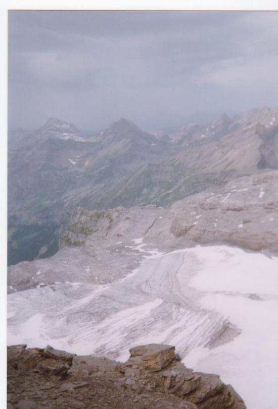 Glacier du Ruan depuis le couloir - 2005