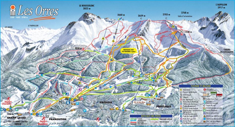 les pistes - station des Orres - Hautes Alpes