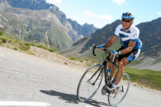 Montée du Galibier à vélo