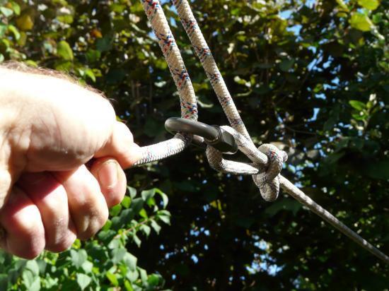 Système de tension simple avec noeud de huit directionnel