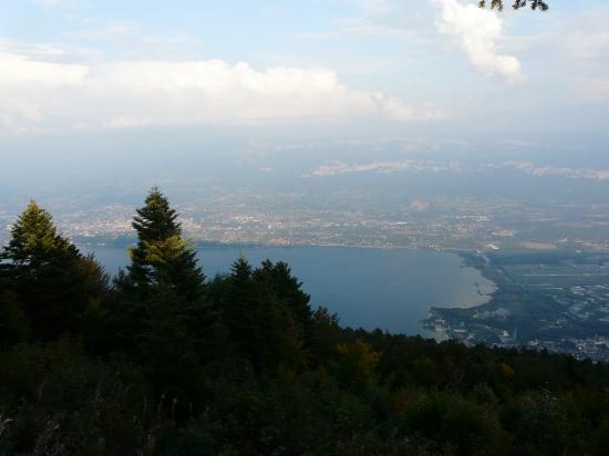 Splendide vue sur le lac du Bourget depuis le relais du Chat !