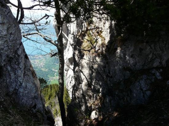 vue sur le lac d' Annecy depuis les dents de Lanfon