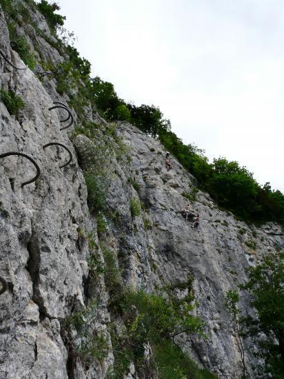 la partie principale de la via ferrata de Nans sous st Anne