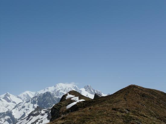 Vers le col du Bohnomme - Vue sur  le Mont Blanc