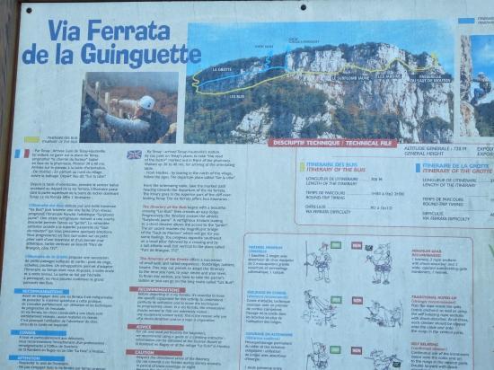 panneau d'information via de la guinguette à Hostias