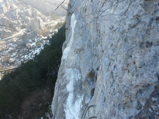 via ferrata bien en glace !