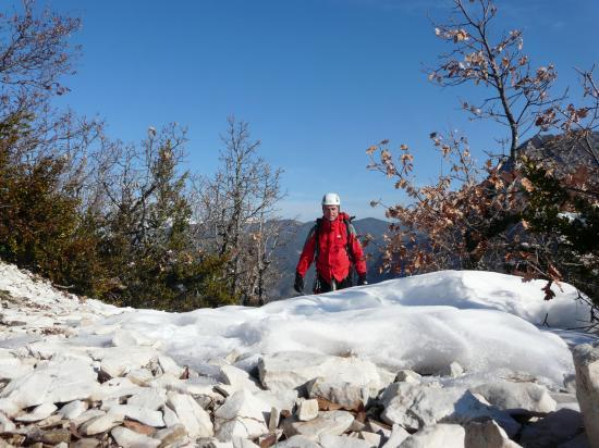 sortie de la via du claps (drôme) en hiver
