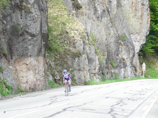 un peu avant le sommet du col de la Schlucht (Vosges)