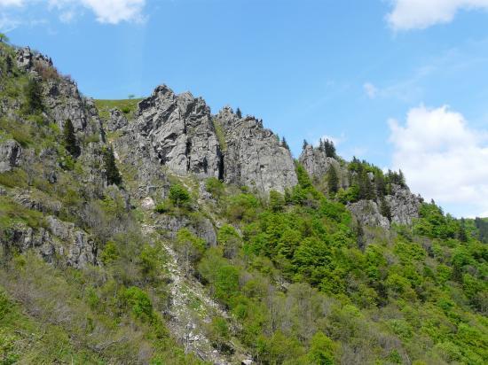 vue d'ensemble du site d'escalade de la Martinswand