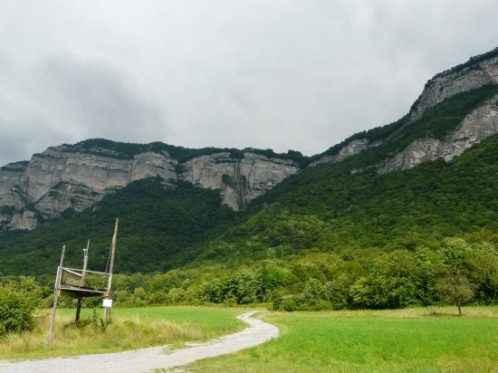 Le site de la via de Crolles-cascade de l' Oule- au dessus St Hilaire du Touvet