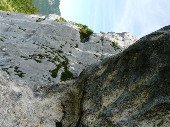 la dernière partie de la via de roche Veyrand
