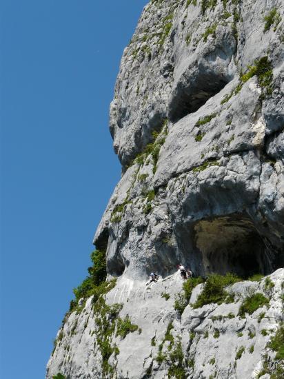 le passage des grottes dans la seconde partie de Roche Veyrand