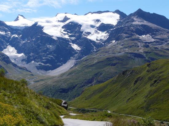 La Meîje - dome des écrins depuis le versant Briançon du Galibier