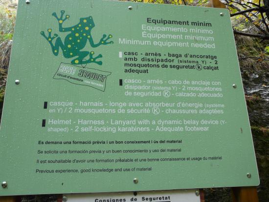 panneau de la via du Ségudet à Ordino (Andorre)