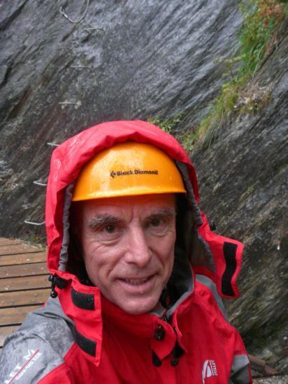 Bien couvert et prêt à partir dans la via du creu del Noral