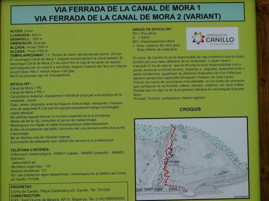 panneau via canal del mora (andorre)