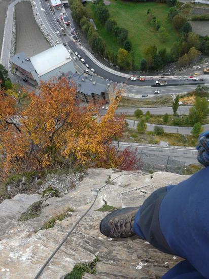 belle verticalité dans la roc del quer Canillo-Andorre)