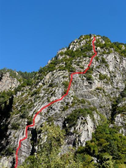 Itinéraire de la via du roc d' Esquers à Escaldes (Andorre)