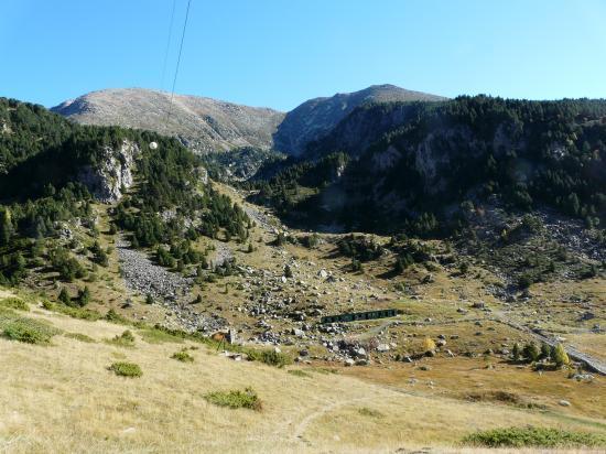 panorama vers la via de Cortals d' Encan