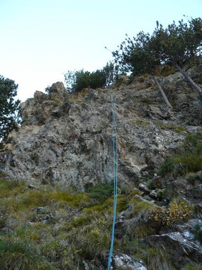 La descente en rappel de la via de Cortals d' Encan (20m)