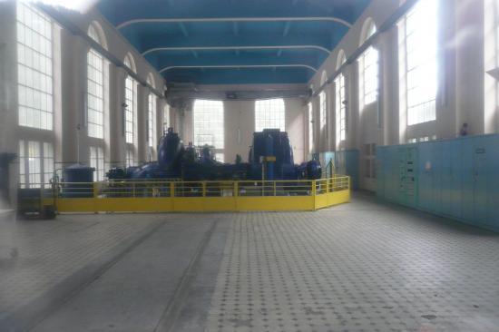 Les turbines de l' usine du Refrain à Charquemont