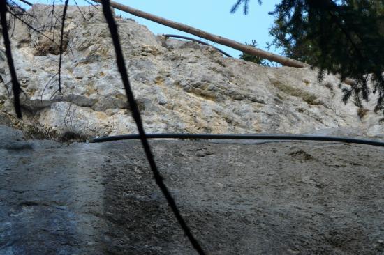 Rocher du Toux stade de descente en rappel