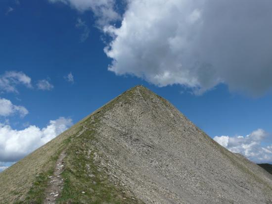 les derniers mètres de l' ascension de chaurionde
