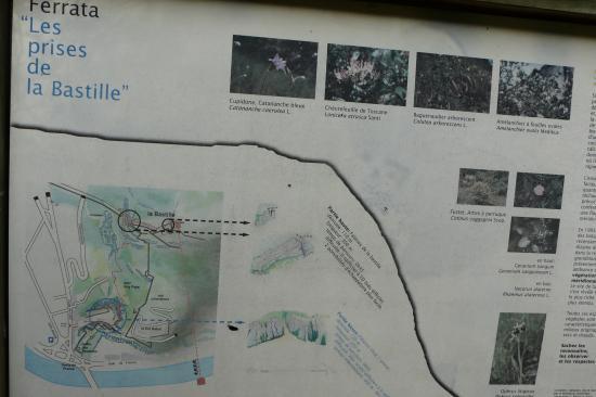 panneau d' info de la via de la bastille