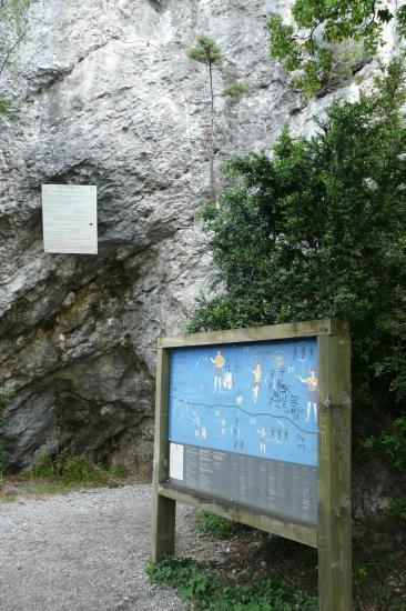 panneau d'info, deuxième partie de la via de la bastille