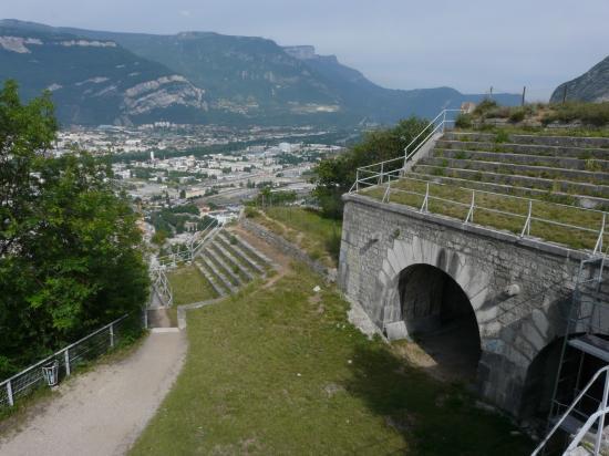 dans le haut du fort de la bastille à Grenoble