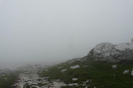 brouillard sur la dent de Crolles