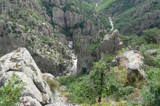 les gorges de Chassézac prés de Villefort (lozère)