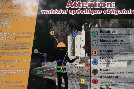 panneau d' info typique des vias de lozère