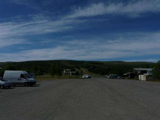 mont Lozère, parkings et installations