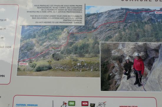 itinéraire de la via ferrta du col de la Madeleine à Lanslevillard