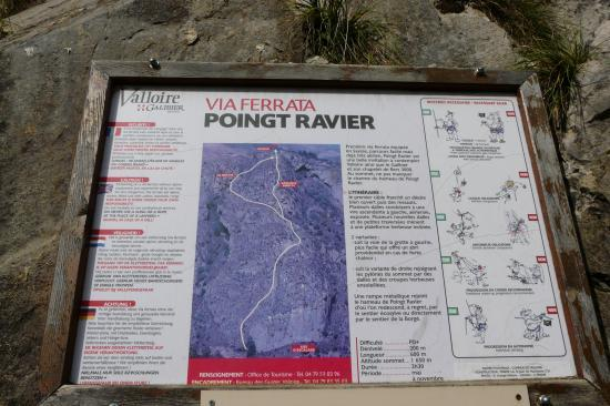 poingt Ravier, panneau d' info
