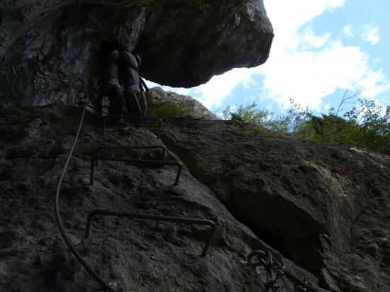 vers la sortie de Poingt Ravier - via de valloire