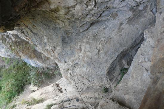 la cheminée de remonteé de la grotte de la via Poingt ravier à valloire