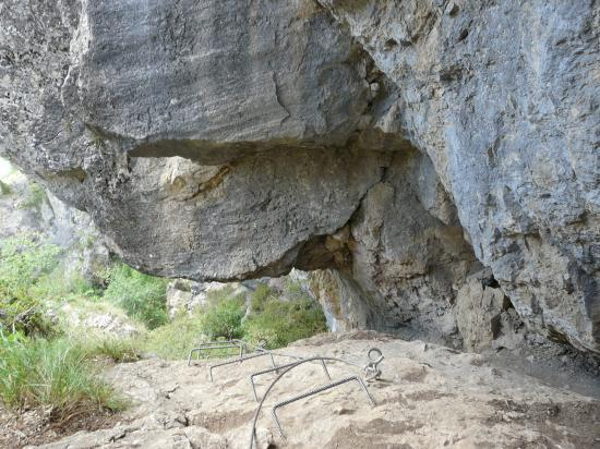 au dessus de la grotte à Poingt ravier (Valloire)