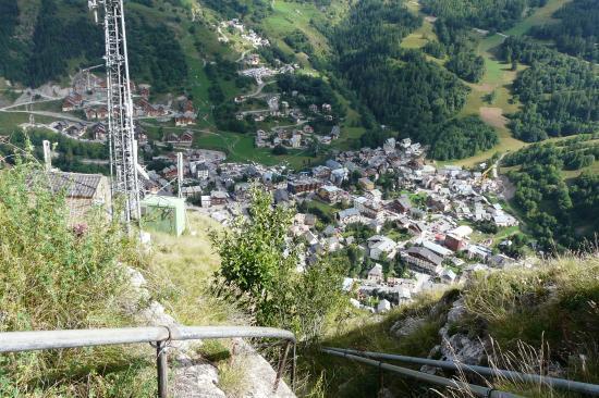 la sortie de Poingt Ravier à Valloire au dessus de l' antenne
