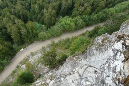 vue sur le chemin forestier depuis la via d' Arthouze