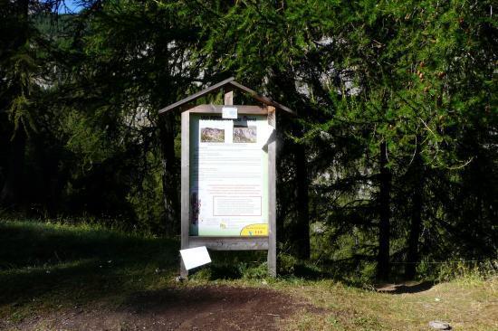 panneau d'information des vias des Orres