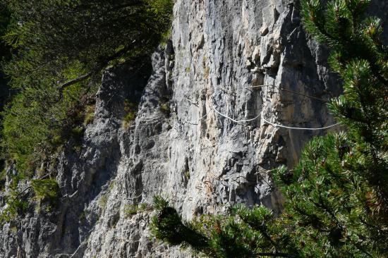 Encore une belle traversée dans la première partie de la via de la cascade aux Orres