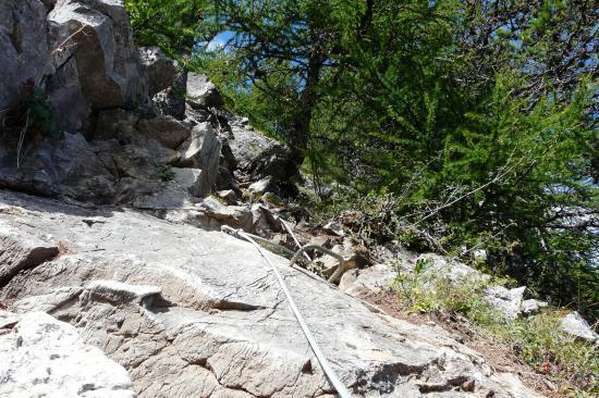 sortie de la via de la cascade aux Orres