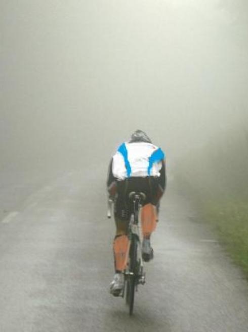 Col du Calvaire dans le brouillard
