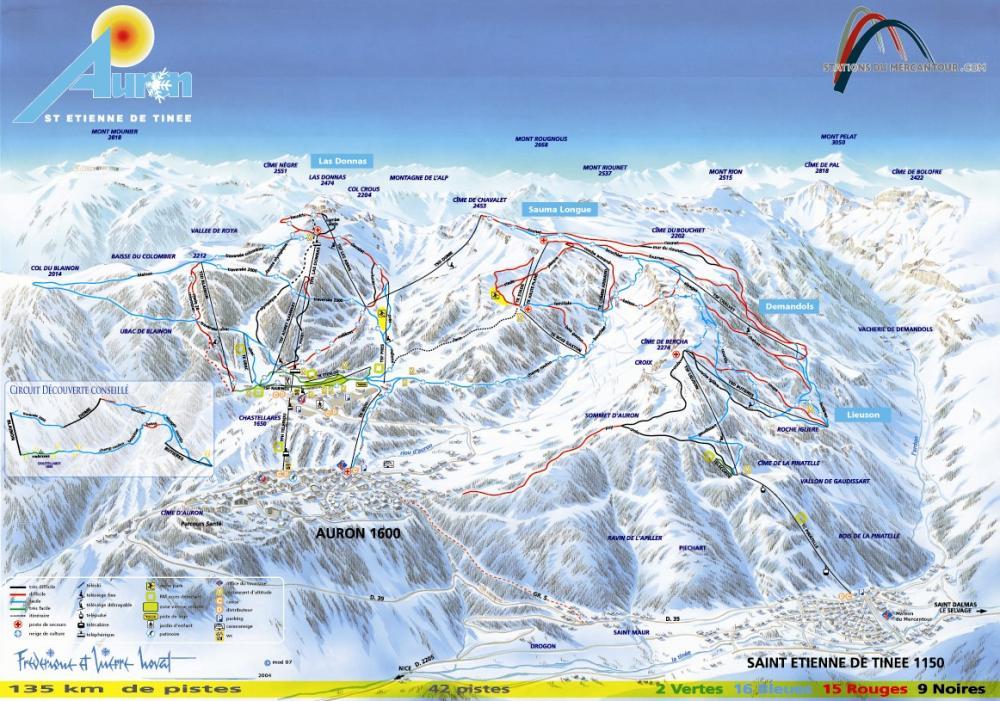 Ski de piste auron st etienne de tin e alpes hte provence - Isola 2000 office de tourisme ...