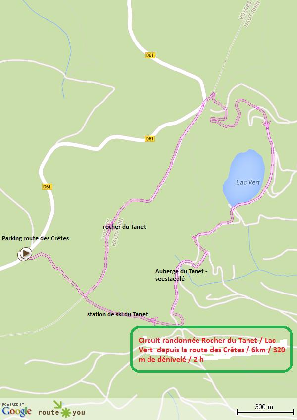 Circuit randonnee le tanet lac vert depuis la route des cretes 1