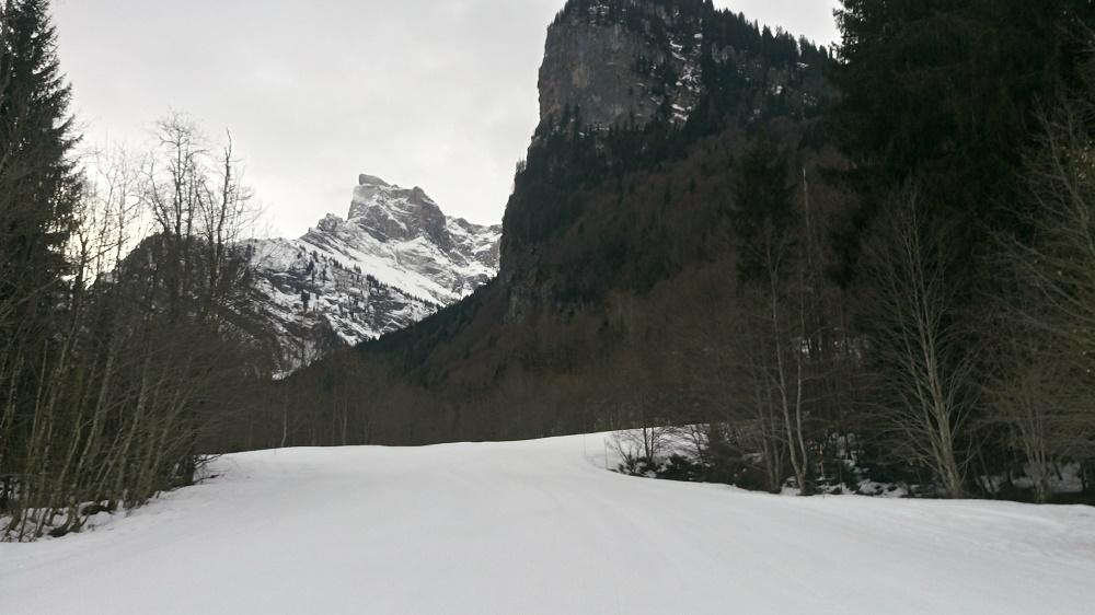 Randonnée à ski au lac de Gers  Sixt Fer à Cheval Haute savoie