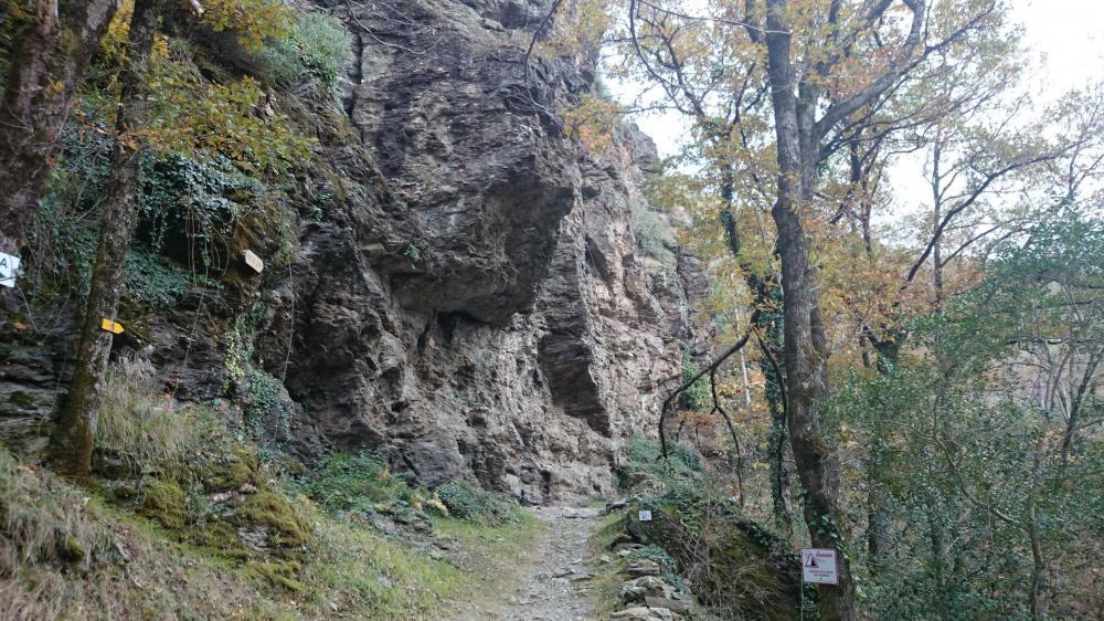 Le site de départ de la via ferrata du Roc du Gorb à Bor et Bar