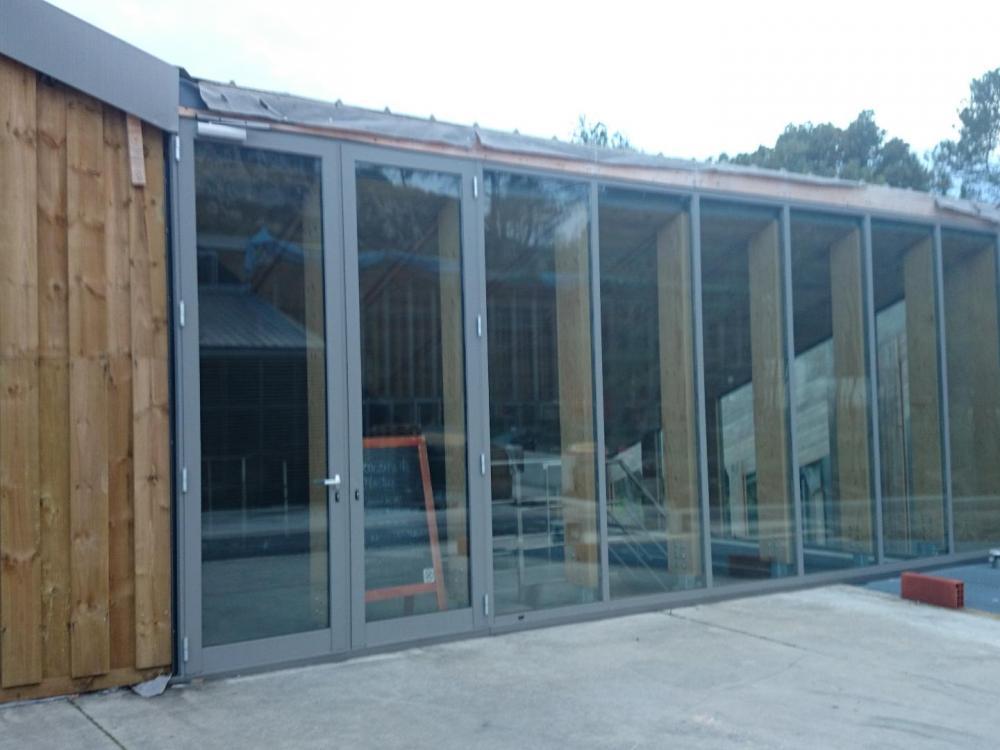 pavillon d' accueil du domaine de l' Hortus à Valflaunés